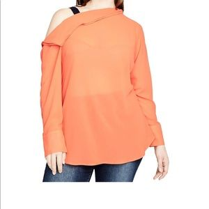 NWT Rachel Roy Plus Asymmetrical Cold shoulder